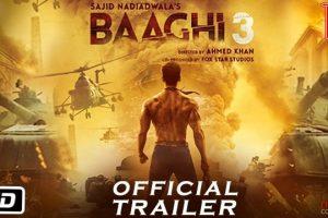 बलिउड चलचित्र 'बाघी–३' को ट्रेलर रिलिज