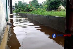पानीको निकास नहुदाँ इनरुवा बजारको भित्री वस्ति डुवानमा (भिडियो रिपोर्ट)
