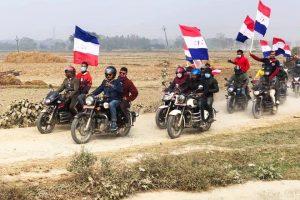 इनरुवामा तरुण दलको मोटरसाइकल र्याली (भिडियो सहित)