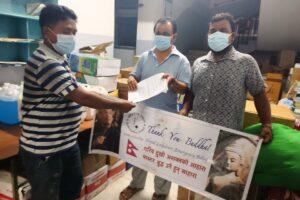 इनरुवाको कोभिड अस्पताललाई बोधिसत्व काठमाण्डौंको सहयोग